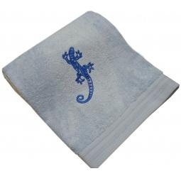 фото Полотенце подарочное с вышивкой TAC Salamander. Цвет: голубой