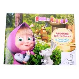 фото Альбом для рисования с раскрасками Росмэн «Маша и Медведь» 4