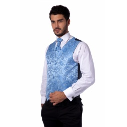 фото Жилет Mondigo 20494. Цвет: голубой. Размер одежды: L