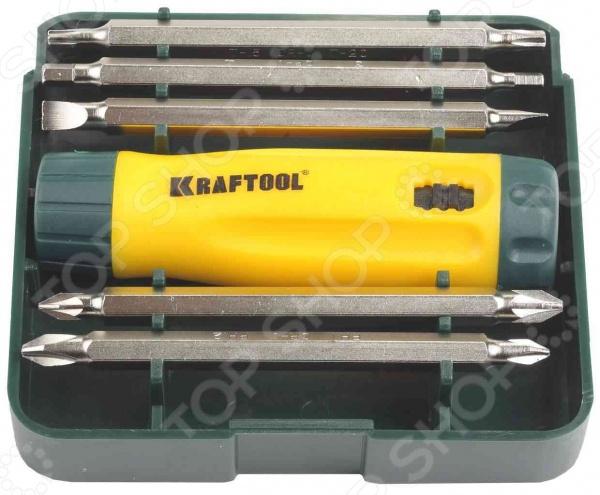 Отвертка реверсивная с битами Kraftool 26141-H6