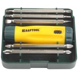 Купить Отвертка реверсивная с битами Kraftool 26141-H6
