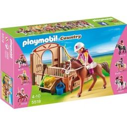 фото Конструктор игровой Playmobil «Конный клуб: Гоночная лошадка и загон»
