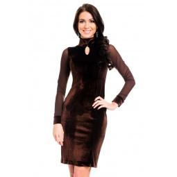 фото Платье Mondigo 7019. Цвет: коричневый. Размер одежды: 48