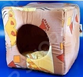 Домик для кошек Xody «Куб №3»Домики. Лежаки. Когтеточки<br>Домик для кошек Xody Куб 3 комфортабельный уютный домик для вашего любимого питомца. Он изготовлен из высококачественного поролона и синтепона, на дне имеется мягкая подстилка. Это невероятно комфортное местечко, которое подойдет не только для кошек и котят, но также щенков и мелких пород собак. Домик изготовлен из экологически чистого материала, а используемые в производстве краски отличаются стойкостью и не содержат токсичных компонентов.<br>