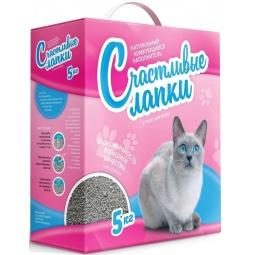 фото Наполнитель для кошачьего туалета Счастливые лапки комкующийся