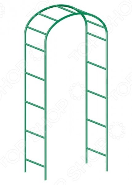Арка садовая декоративная для вьющихся растений PALISAD 69120Другие элементы ландшафта и декора<br>Арка садовая декоративная для вьющихся растений PALISAD 69120 прочная декоративная опора из металлических направляющих, которая идеально подойдет для поддержки вьющихся садовых растений или растений с длинными стеблями. За счет своей уникальной конструкции арка обеспечивает эффективную поддержку растений даже без подвязывания. Качественные материалы, которые используются при изготовлении данной конструкции, отличается прекрасными износоустойчивыми характеристиками.<br>