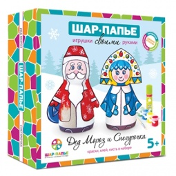 фото Набор для росписи Шар-папье «Дед Мороз и Снегурочка»
