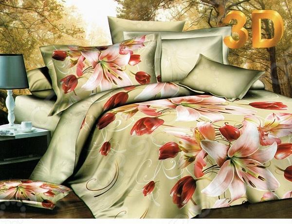 Комплект постельного белья с эффектом 3D Мар-Текс «Юлия». ЕвроЕвро<br>Комплект постельного белья с эффектом 3D Мар-Текс Юлия это удобное постельное белье, которое подойдет для ежедневного использования. Чтобы ваш сон всегда был приятным, а пробуждение легким, необходимо подобрать то постельное белье, которое будет соответствовать всем вашим пожеланиям. Приятный цвет, нежный принт и высокое качество ткани обеспечат вам крепкий и спокойный сон. 100 полиэстер, из которого сшит комплект отличается следующими качествами:  достаточно мягка и приятна на ощупь, не имеет склонности к скатыванию, линянию, протиранию, обладает повышенной гигроскопичностью, практически не мнется, не растягивается, не садится, не выгорает, гипоаллергенна, хорошо отстирывается и не теряет при этом своих насыщенных цветов;  современная фотопечать прекрасно передаёт цвет и мельчайшие детали изображения;  за счёт специального переплетения волокон ткань устойчива к механическим воздействиям. Ткань устойчива к механическим воздействиям. Перед первым применением комплект постельного белья рекомендуется постирать. Перед стиркой выверните наизнанку наволочки и пододеяльник. Для сохранения цвета не используйте порошки, которые содержат отбеливатель. Рекомендуемая температура стирки: 40 С и ниже без использования кондиционера или смягчителя воды.<br>