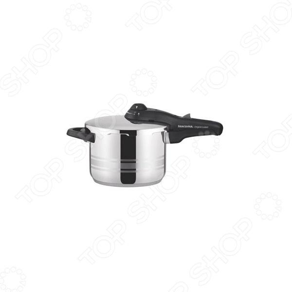 Скороварка Tescoma ImpressionСкороварки<br>Скороварка Tescoma Impression многофункциональная модель, способная заменить множество кухонных принадлежностей. Используется для закруток; приготовления полезной пищи экстра-толстое дно и конструкция крышки, исключающая доступ воздуха, позволяют готовить без жиров ; быстрой готовки сложных продуктов: больших кусков мяса, замороженных продуктов. Скороварка изготовлена из высококачественной нержавеющей стали 18 10. Особая конструкция и многослойное дно обеспечивает равномерное распределение тепла, возможность деформации при использовании, полностью исключается. Оригинальный дизайн сделает их отличным украшением любой кухни и непременно порадует качеством. Особенности:  Первоклассная сталь.  Равномерное нагревание поверхности.  Подходят для всех типов плит газовых, электрических и индукционных.<br>