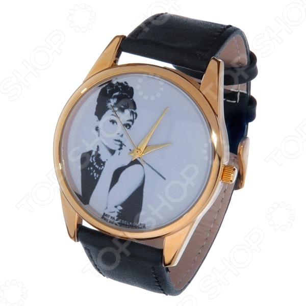 Часы наручные Mitya Veselkov «Одри курит» Gold часы наручные mitya veselkov часы mitya veselkov одри на белом курит арт mv 38