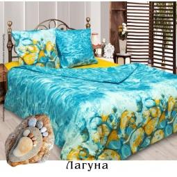 фото Комплект постельного белья Сова и Жаворонок «Лагуна». 2-спальный. Размер наволочки: 70х70 см — 2 шт