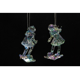 Купить Елочное украшение Crystal Deco «Девочка на лыжах». В ассортименте