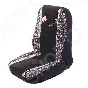 Набор чехлов для передних сидений Hello Kitty HSK-014, Накидки на сидения. Накладки на ремни - артикул: 576656