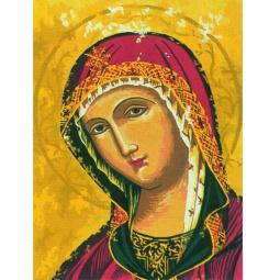 фото Канва с нанесенным рисунком Collection D'Art «Икона Пресвятая Богородица»