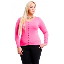 фото Жакет Mondigo XL 9130. Цвет: ярко-розовый. Размер одежды: 48