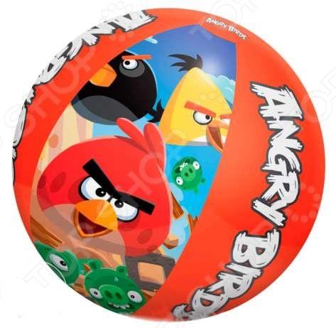 Мяч пляжный Bestway 96101 Angry Birds диаметром 51 сантиметр подойдет для детских игр как в бассейне, так и в открытых водоемах озерах, реках и на море . С таким мячом ваш ребенок не соскучится во время купания и с удовольствие проведет время.