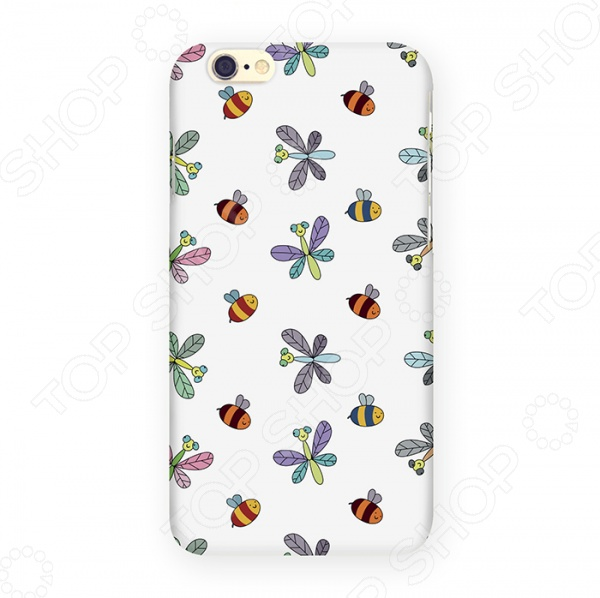 Чехол для iPhone 6 Mitya Veselkov «Стрекозы и пчелы» отсутствует здоровье на крыльях пчелы