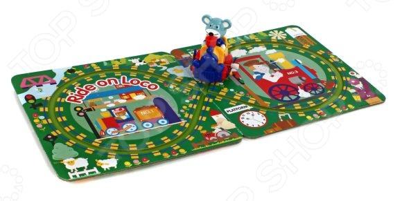 Игрушка заводная Жирафики Паровозик с треком предназначена для таких маленьких, но уже таких любознательных малышей. Состоит из игрового поля и небольшого паровоза, которым управляет забавный мышонок-машинист. Достаточно установить паровозик на трек, завести его, и можно отправляться в увлекательное путешествие! Игрушка заводная Жирафики Паровозик с треком изготовлена из высококачественного пластика. Все материалы абсолютно безвредны и не содержат токсических веществ. Представленная модель способствует развитию тактильных ощущений, зрительной координации и мелкой моторики рук ребенка.