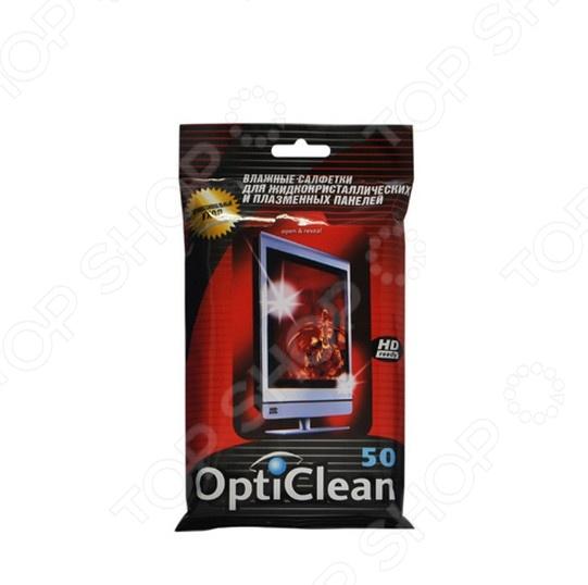 Набор салфеток влажных очищающих для плазменных и ЖК-панелей Авангард OC-48159 Opti Clean набор салфеток влажных для холодильников и микроволновых печей авангард hl 48152 house lux