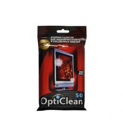 Купить Набор салфеток влажных очищающих для плазменных и ЖК-панелей Авангард OC-48159 Opti Clean