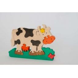 Купить Пазл деревянный Tree tone «Коровка с ромашкой»
