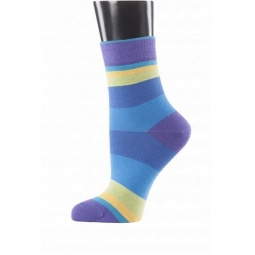 фото Носки женские Teller Funky Stripes. Цвет: фиолетовый. Размер: 36-38