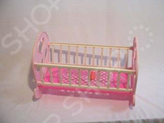 Кроватка для кукол Огонек 1028 кроватка для кукол огонек 1028