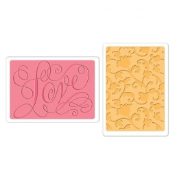 фото Набор форм для эмбоссирования Sizzix Textured Impressions Любовь и витиеватая лоза