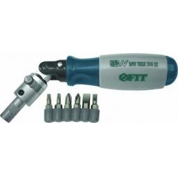 Купить Отвертка рычажно-реверсивная с набором бит FIT 56470