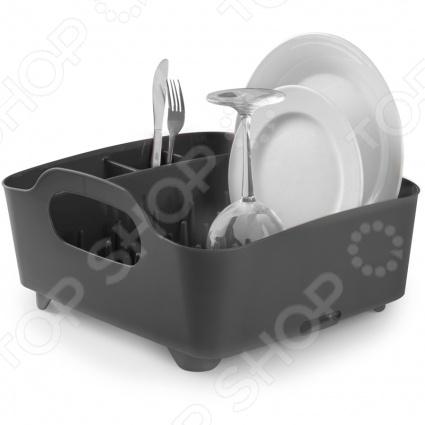 Сушилка для посуды Umbra Tub представляет собой замечательный аксессуар для вашей кухни, с помощью которого вам удастся удобно и рационально управляться со своей посудой. Удобные ручки для переноски, желобки для стекающей с тарелок воды, специальный носик, через который стекает вся ненужная вода, а так же высококачественный пластик, из которого изготовлена вся конструкция, делают сушилку Umbra Tub замечательным помощником на вашей кухне.