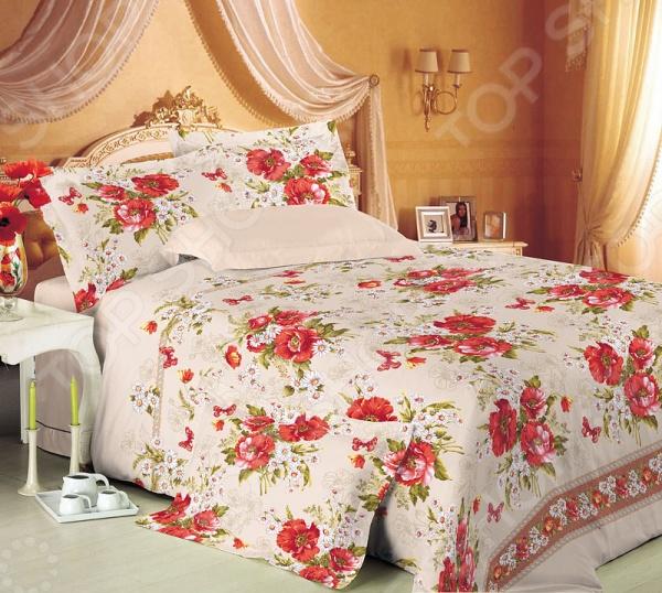 Комплект постельного белья Королевское Искушение «Виктория». 2-спальный2-спальные<br>Комплект постельного белья Королевское Искушение Виктория - красивое и качественное постельное белье, которое подарит вам крепкий и здоровый сон. Качественный отдых - залог вашего здоровья, поэтому важно правильно подобрать постельное белье на котором вы будете спать. Красивый дизайн и высокое качество - главные критерии при выборе постельного белья. Комплект выполнен из 100 хлопка - материала мягкого и приятного на ощупь. Перкаль великолепный по своим практическим и эстетическим качествам материал, который нередко ставится в один ряд с натуральным шелком и высококачественным сатином. Эта ткань выглядит очень тонкой тонкой, при этом является весьма прочной, плотной и одновременно легкой, приятной на ощупь и очень красивой. Перкаль создается из очень прочной хлопчатобумажной пряжи. Нити для этого используются некрученые, выполненные из качественного длинноволокнистого хлопка. В сочетании с высокой плотностью тонких и прочных нитей, перкаль получается одновременно тонким и прочным, что особенно актуально для постельного белья. При изготовлении данной серии постельного белья, были использованы красители высшего качества, безопасные для здоровья и долговечные. Роскошное постельное белье очарует вас и великолепным образом преобразит вашу спальню. Изысканный и оригинальный дизайн белья впишется в любой интерьер спальной комнаты, придав ей изысканный и элегантный вид. Комплект поставляется в подарочной коробке.<br>