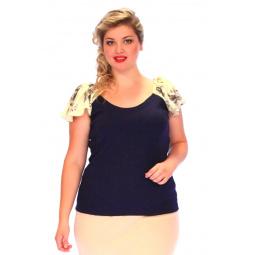 Блуза СВМ-ПРИНТ «Орианна». Цвет: синий