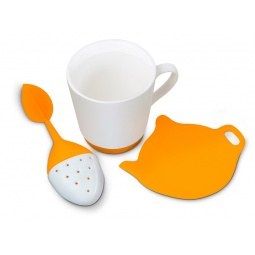 фото Набор для приготовления чая Oursson. Цвет: оранжевый