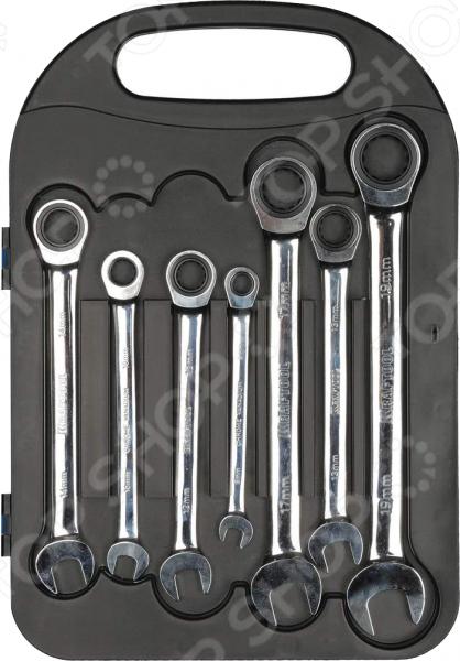 Набор ключей комбинированных трещоточных Kraftool 27235-H7_z01 набор ключей комбинированных stayer master 27085 h6