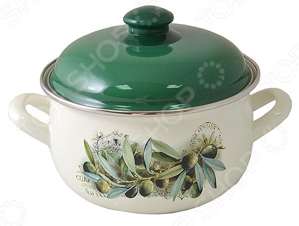 Кастрюля с крышкой Interos «Маслины» набор посуды interos 15231 маслины
