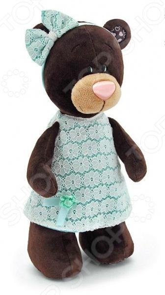 Мягкая игрушка Orange стоячая в платье Milk «Медведь»