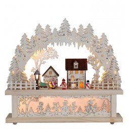 фото Декорация с подсветкой Star Trading 270-56 «Деревня»