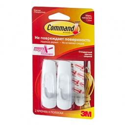 Купить Набор крючков самоклеящихся Command 17001, 2 шт.