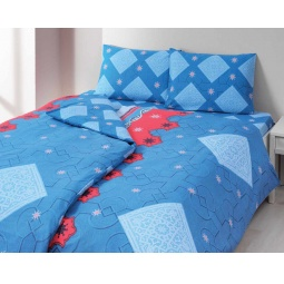 фото Комплект постельного белья TAC Maroc. 1,5-спальный. Цвет: голубой