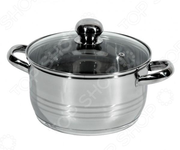 Кастрюля Regent Luna VitroКастрюли<br>Кастрюля Regent Luna Vitro большая посуда из высококачественной нержавеющей стали, в которой можно сварить любые блюда, а также потушить овощи, мясо и рыбу. Часто используется для заготовок на зиму: повидла, варенья и прочего. Крышка с пароотводом сделана из термостойкого стекла, снабжена металлическим ободком. Оптимальное соотношение толщины дна и стенок посуды обеспечивает равномерное распределение тепла, экономит энергию, делает посуду устойчивой к деформации. Многослойное капсулированное дно аккумулирует тепло, способствует быстрому закипанию и приготовлению пищи даже при небольшой мощности конфорок.<br>