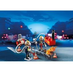 фото Конструктор игровой Playmobil «Пожарная служба: Пожарники с водяным насосом»