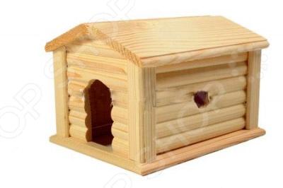 Домик для мелких грызунов Red Plastic с коньковой крышей