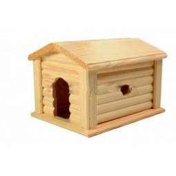 Купить Домик для мелких грызунов Red Plastic с коньковой крышей