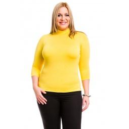 фото Водолазка Mondigo XL 7010. Цвет: желтый. Размер одежды: 50