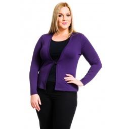 фото Жакет Mondigo XL 426. Цвет: темно-фиолетовый. Размер одежды: 48