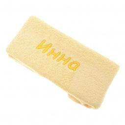 фото Полотенце подарочное с вышивкой TAC Инна. Цвет: желтый