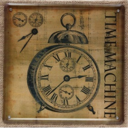 фото Картина на металле Феникс-Презент «Часы»