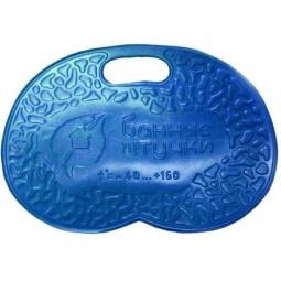 фото Коврик банный с надписью «Банные штучки». Цвет: синий