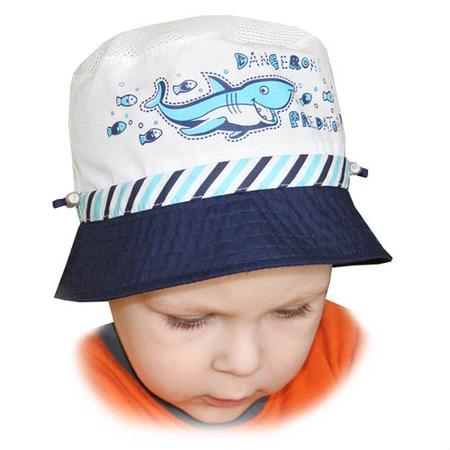 Купить Панама для мальчика Shapochka «Акула» ЯВ121029. Цвет: белый, синий
