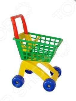 Фото - Тележка игрушечная Полесье для маркета тележка для маркета полесье мини набор продуктов 3 6 элементов цвет в ассортименте